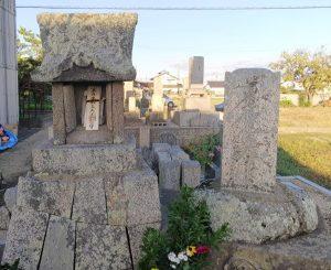 渡辺家の碑と摩利支天