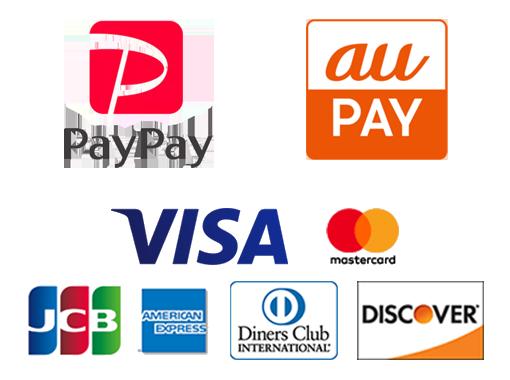 PAYPAY・AUPAY・クレジットカード対応をしました