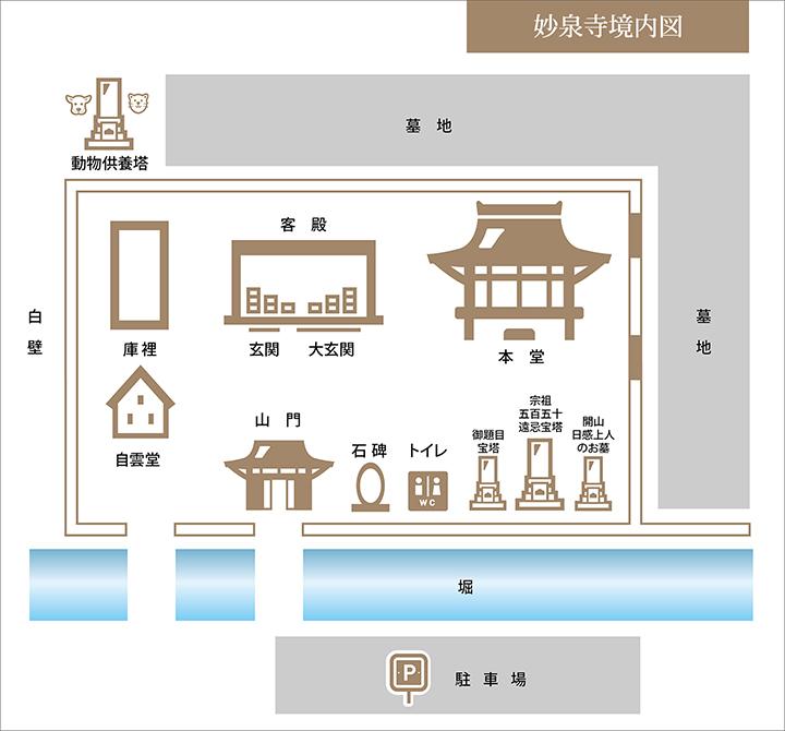 妙泉寺境内図